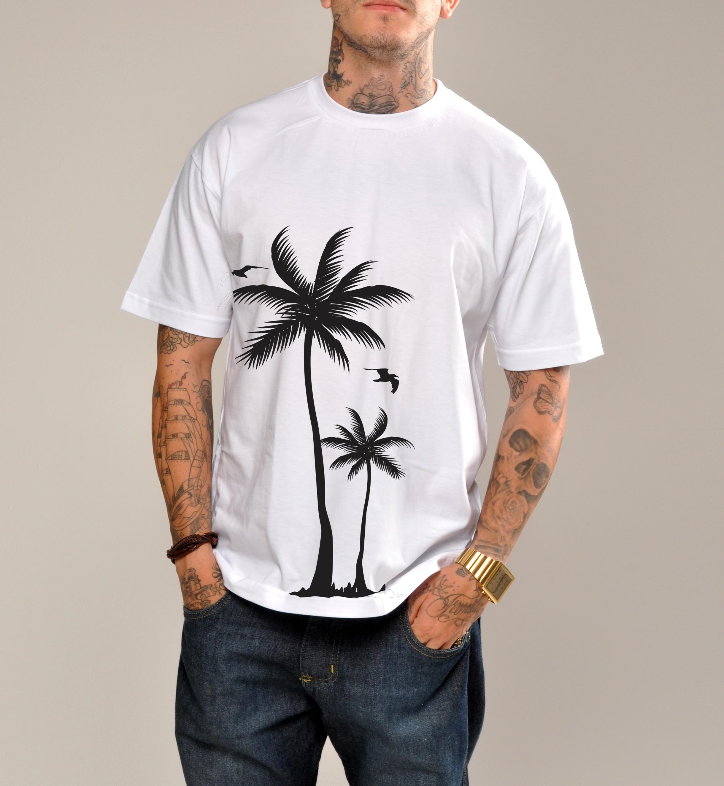 Design Of camiseta com coqueiros e preço