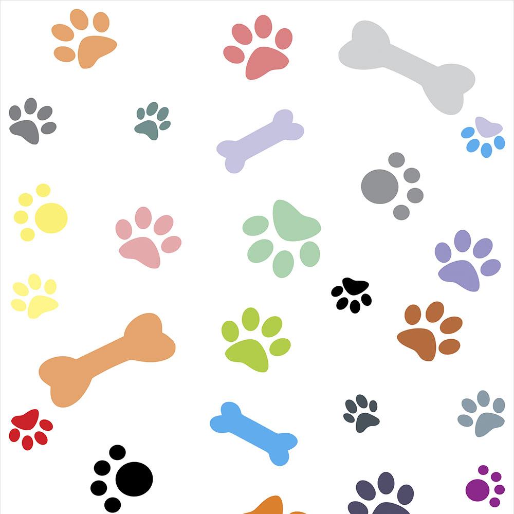 Papel de parede de patinhas de cachorro - Papel de pared barcelona ...
