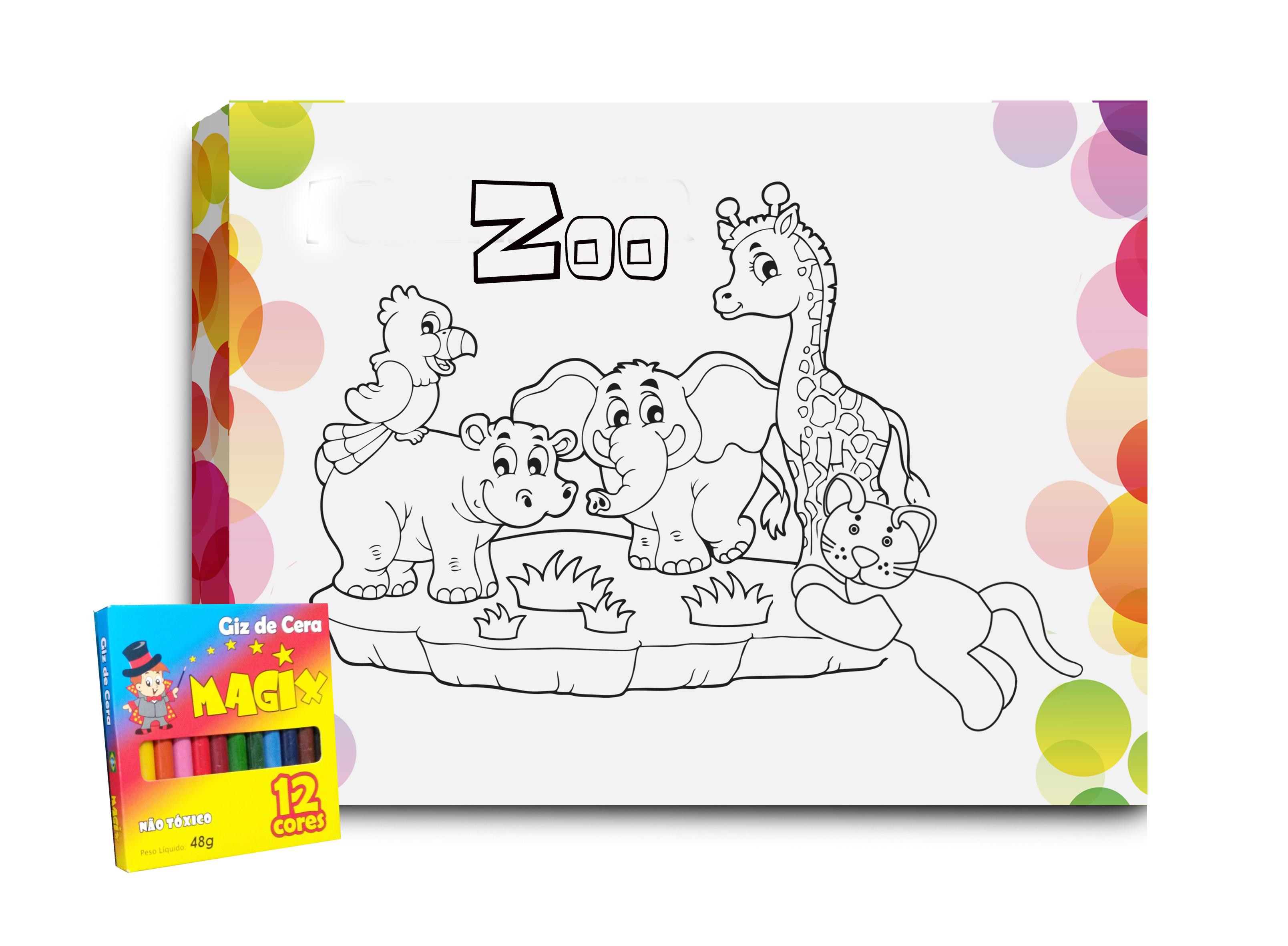 Quadro Para Colorir Zoologico No Elo7 Atelier Valverde 988c17