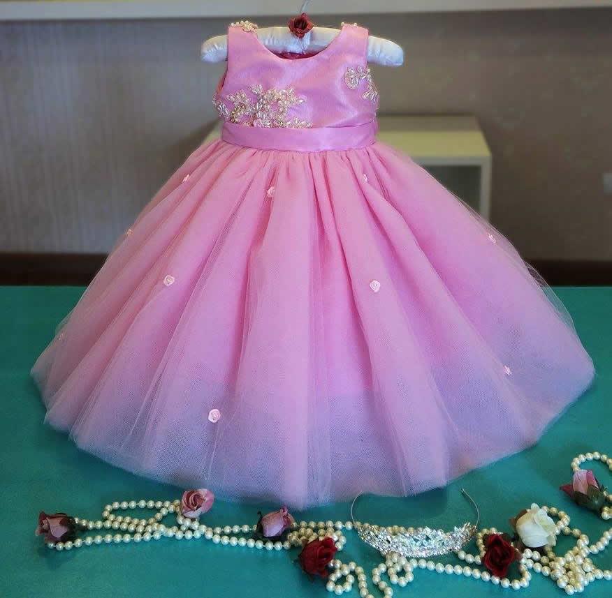 b284523233e Vestido Festa Luxo Princesa Bebe 1 Ano | Elo7