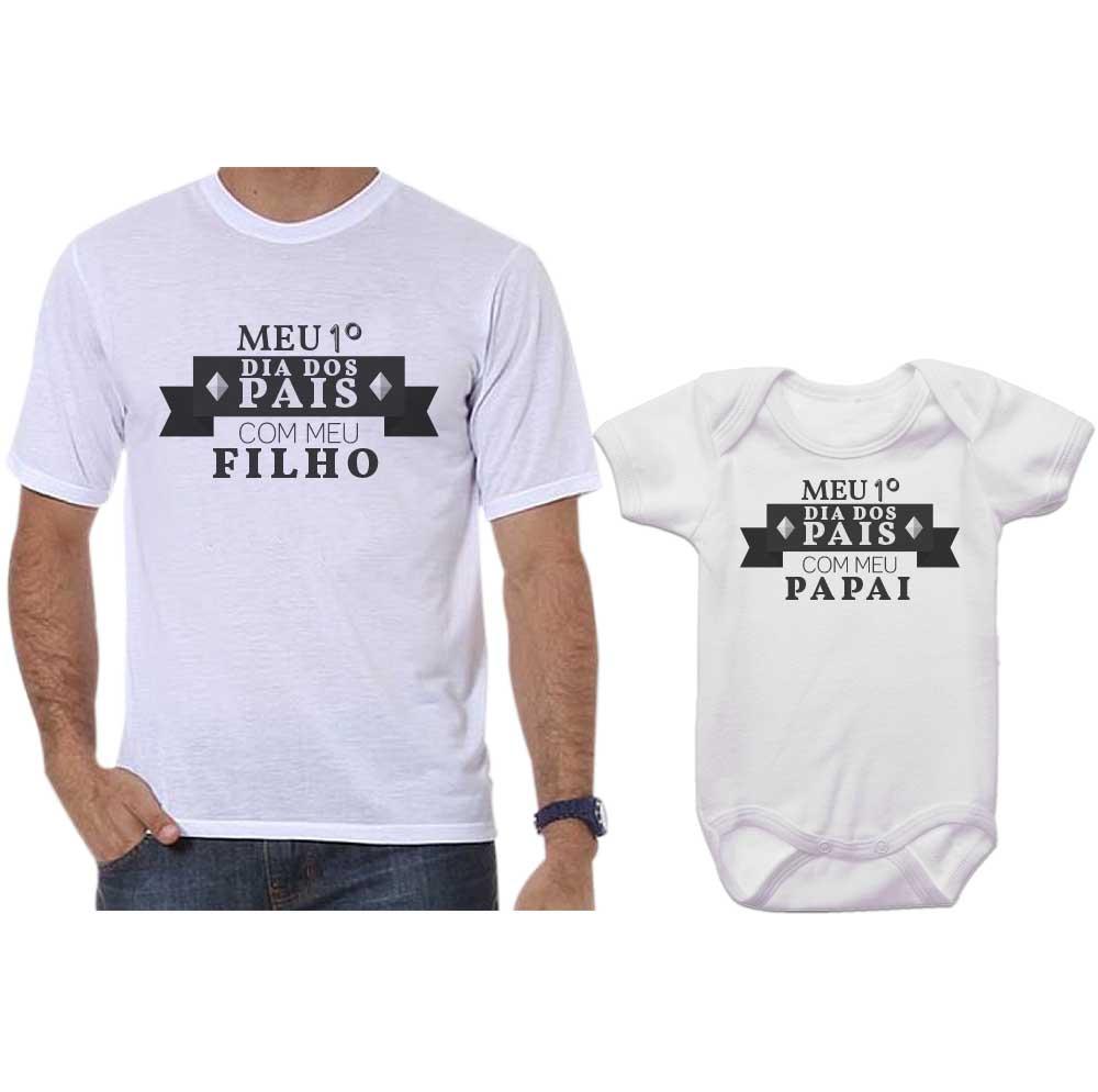 Camiseta E Body Primeiro Dia Dos Pais No Elo7 Empório Camiseteria
