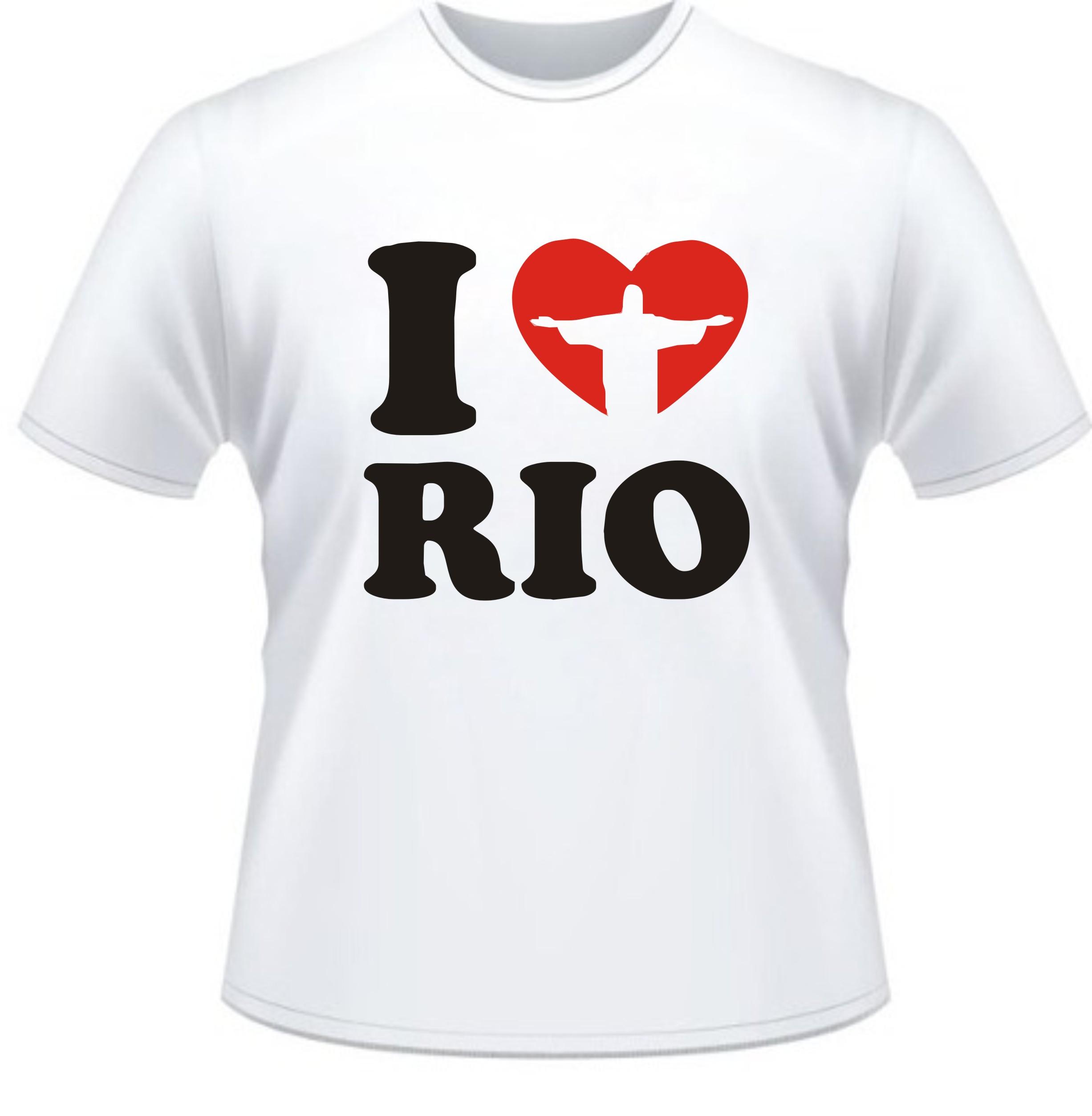 Camiseta Eu Amo O Rio de Janeiro no Elo7  de1eb7af576