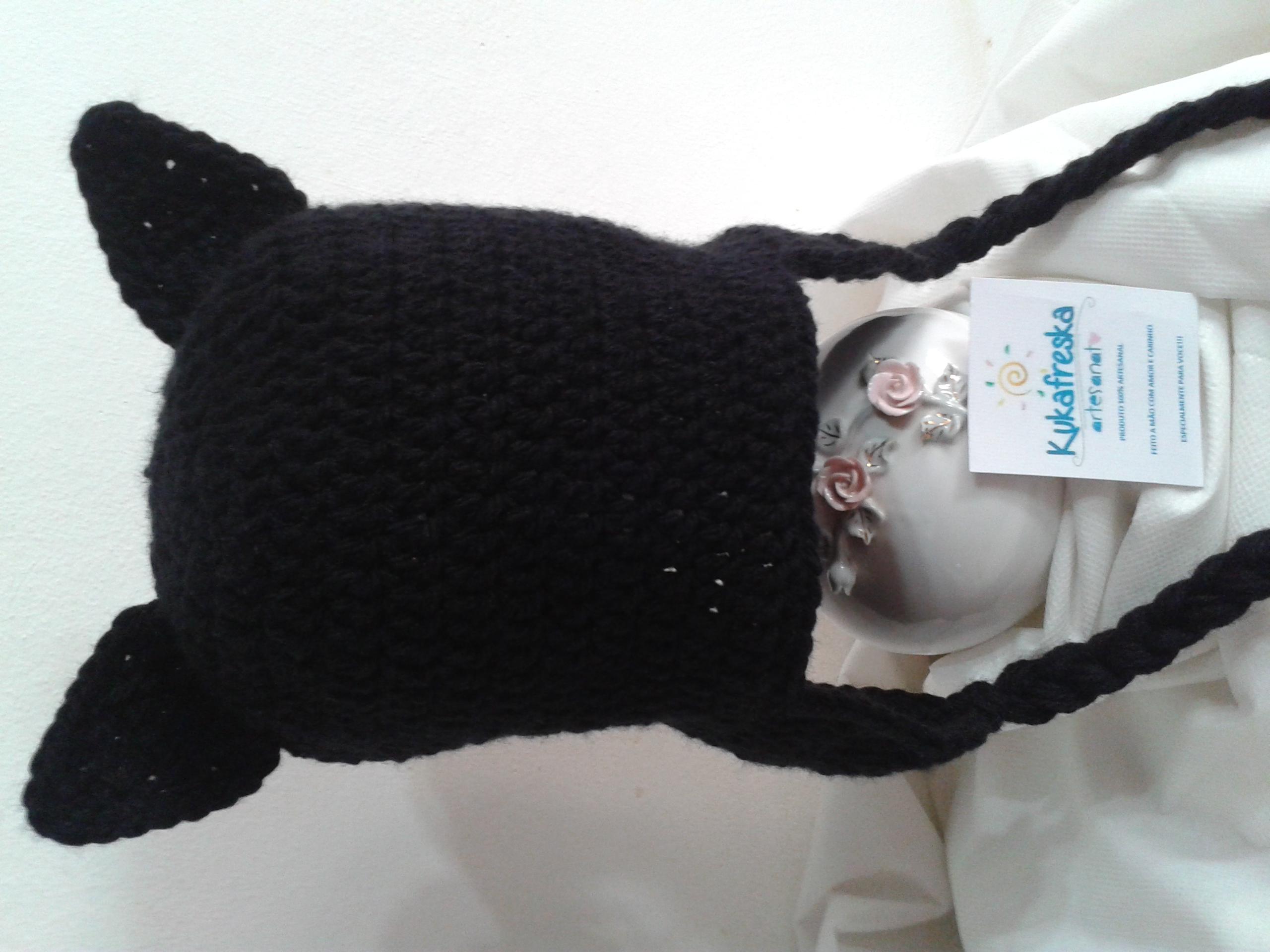 Touca de Croche Gato adulto no Elo7  3d94dc39756