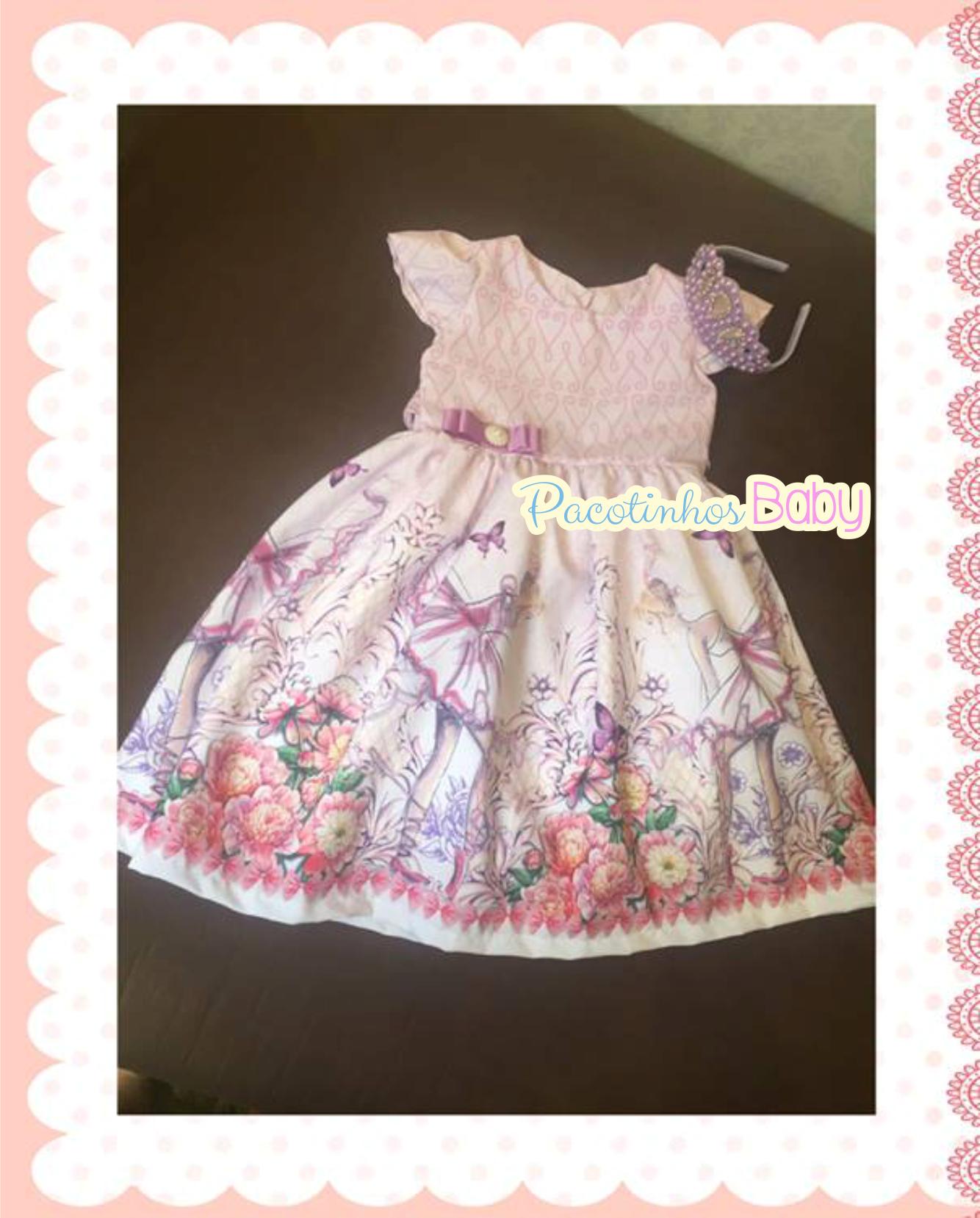 Vestido Infantil Bebê Borboleta  a623c3124f77