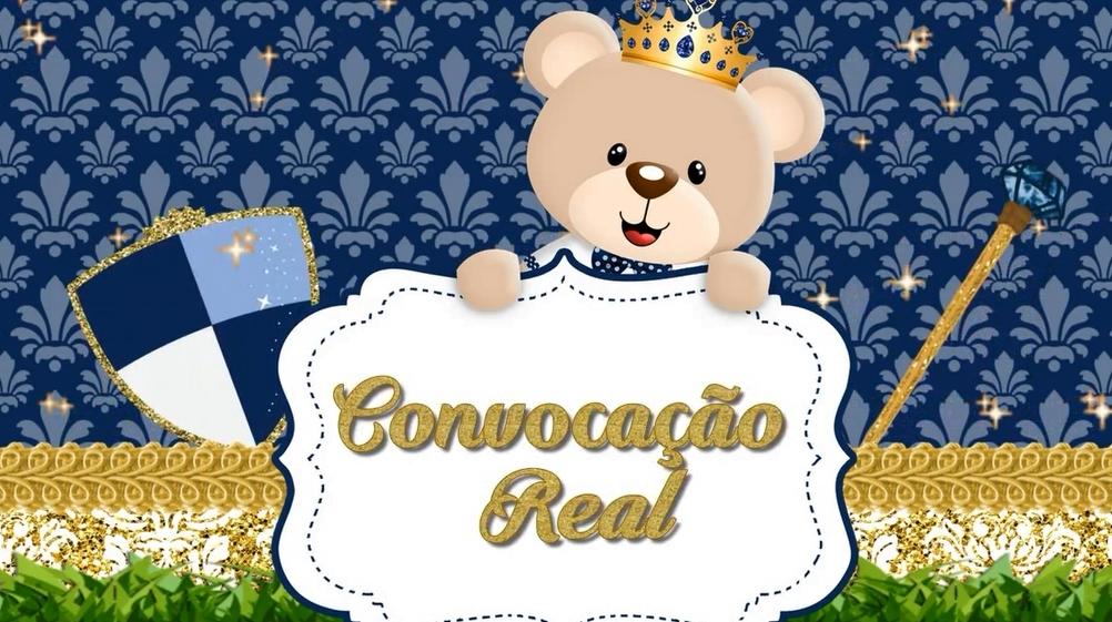 Convite Animado Ursinho Principe Elo7