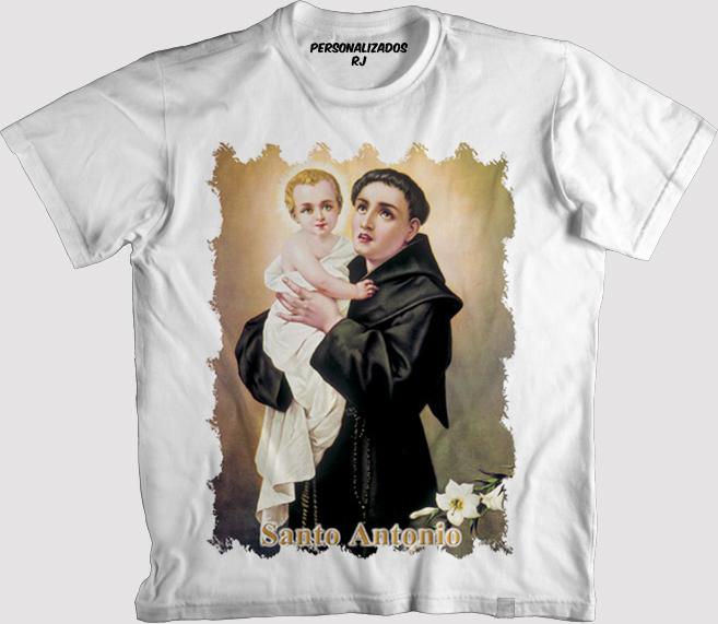 4f3aca1437 Camiseta Branca Santo Antonio