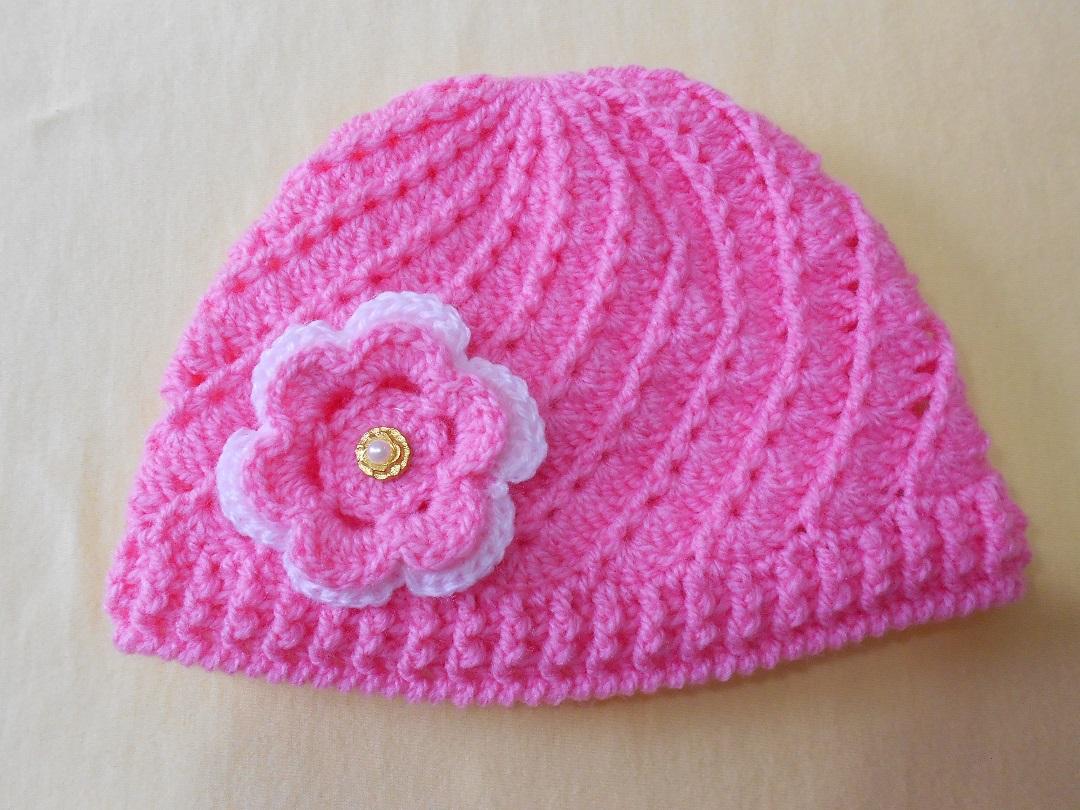Touca de Croche para Bebe  3ae1fa82443