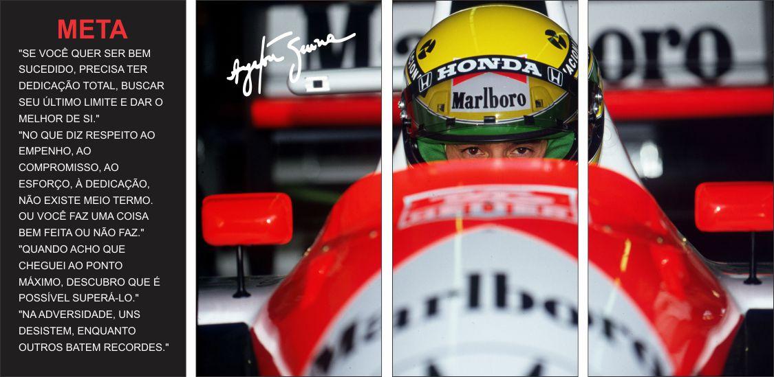 Quadro Ayrton Senna Frases Motivacionais