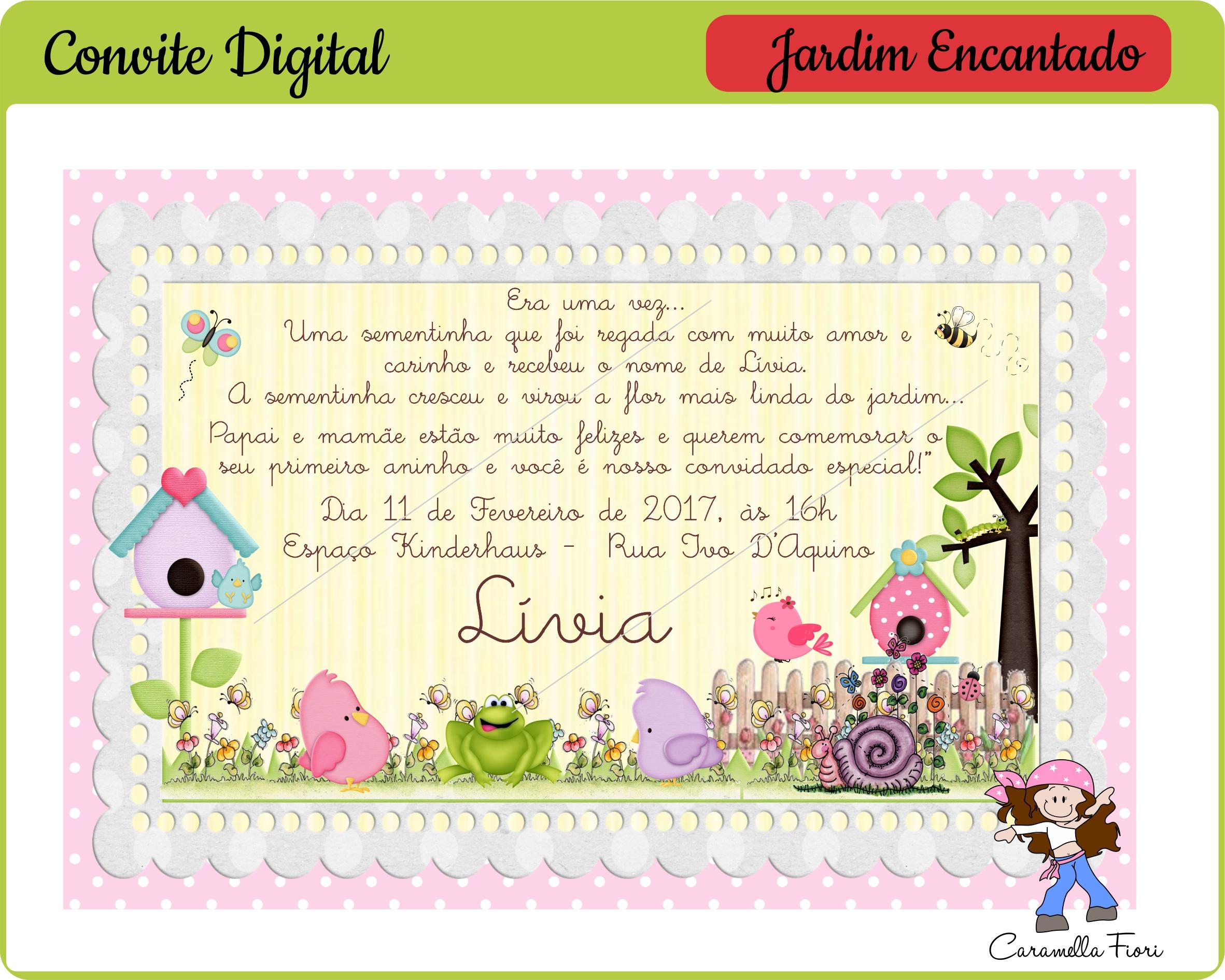 Jardim Encantado Coleção De Caramella Fiori Digital At Caramella