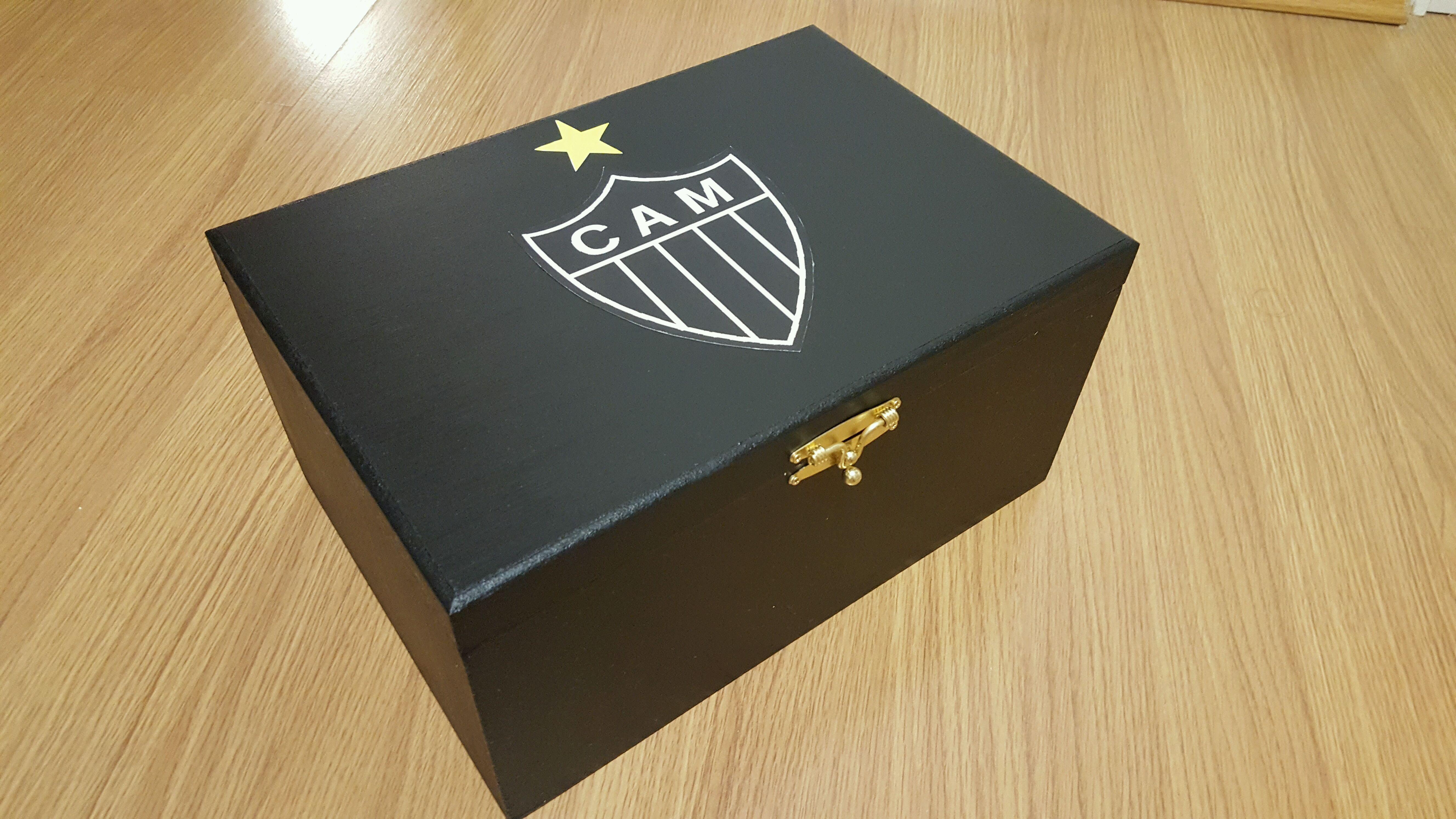 afecc4c2bf8 Caixa para óculos e relógio do Atlético no Elo7