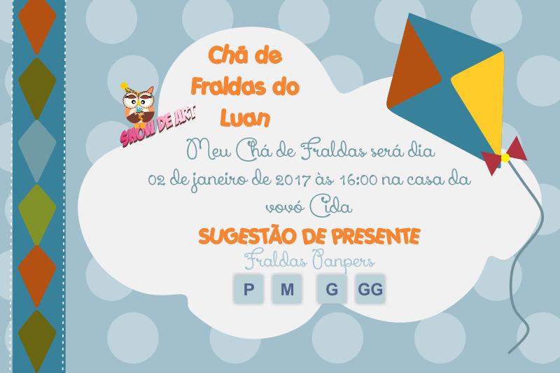 Convite Cha De Fraldas Pipas No Elo7 Papelaria Showdeart 99a7ba
