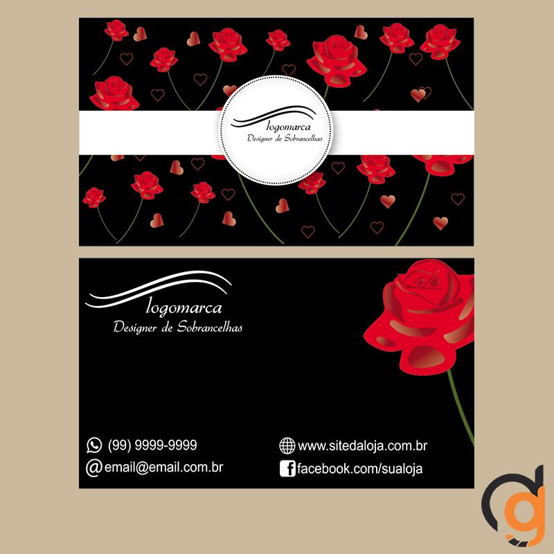 Super CARTÃO DE VISITA (DESIGNER SOBRANCELHAS) no Elo7 | Great Design  RK93
