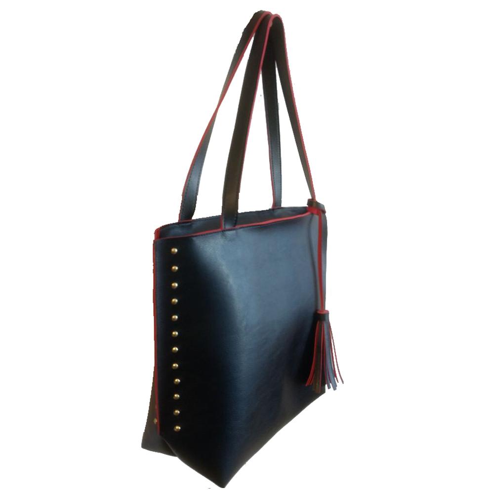 a4f5abaa2 Bolsa feminina sacola grande preta e vermelha promoção no Elo7   Meu Tio  Que Fez (93C399)