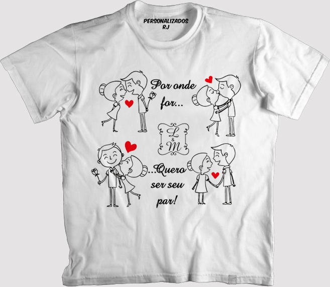 Camisas Personalizadas Namorados Elo7