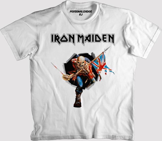 e0b60fa2a1 Camiseta Iron Maiden Powerslave   Elo7