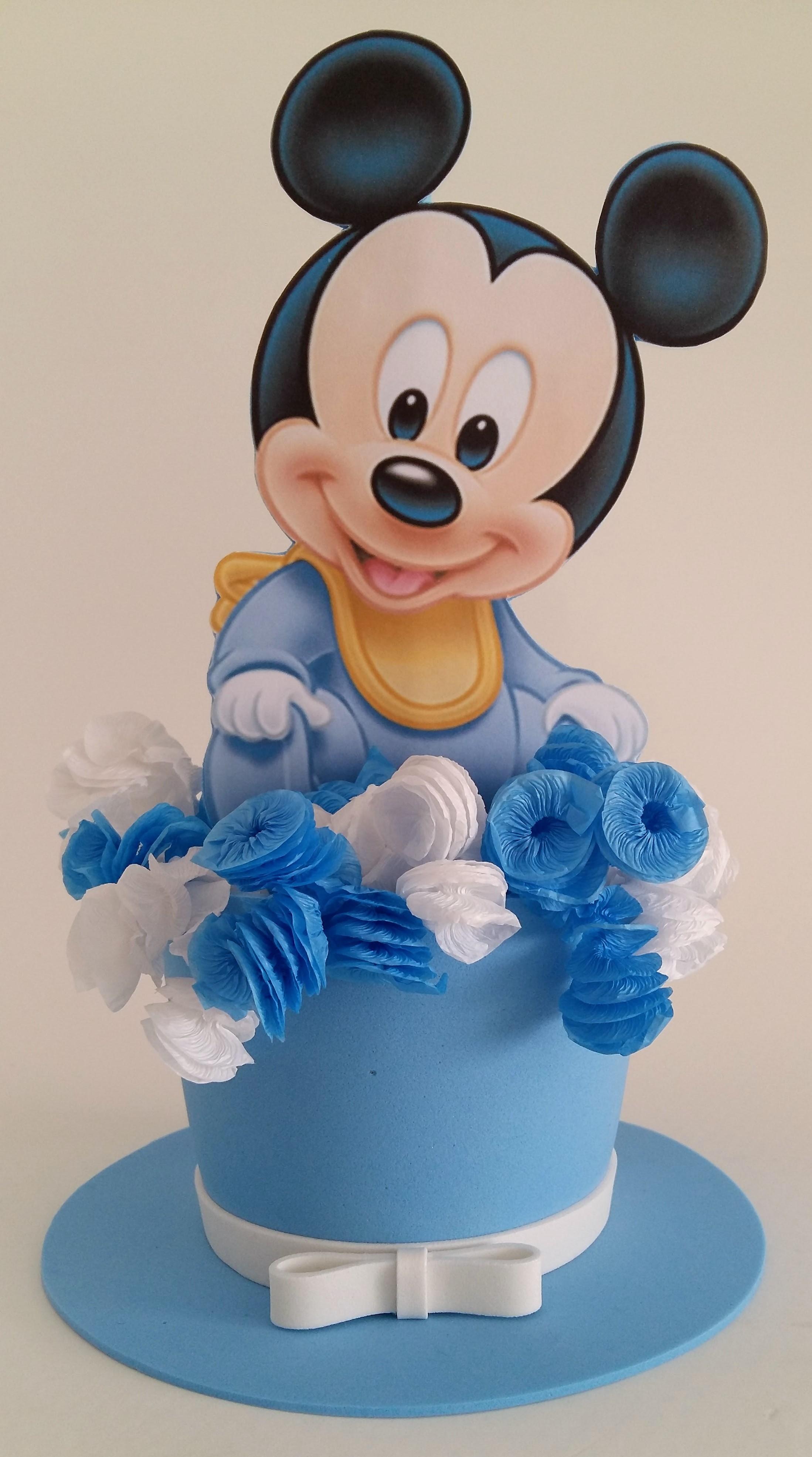 Centro de mesa Mickey Baby no Elo7   Tiquinho de mim (9A6635)