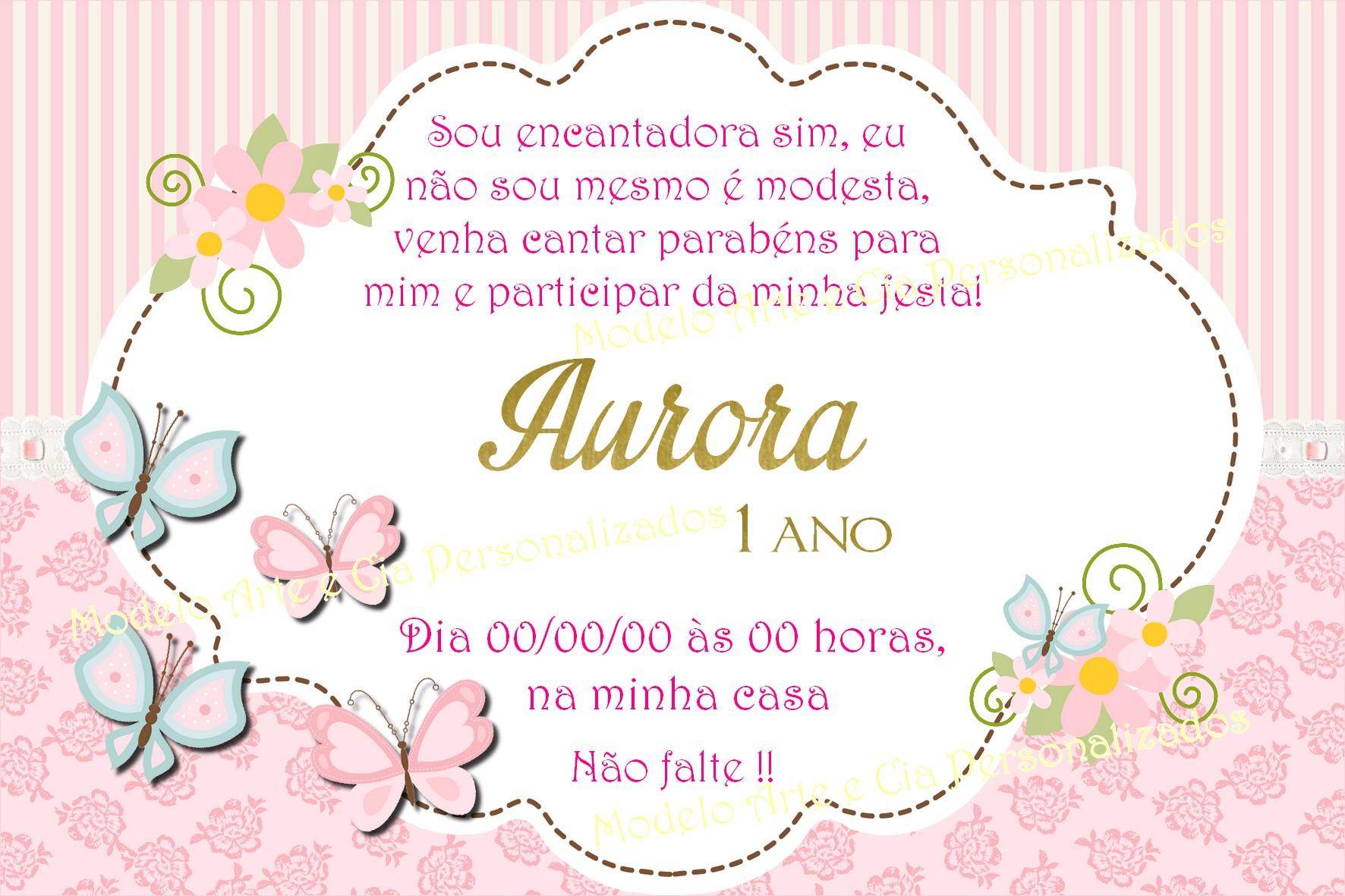 Convite Borboletas Rosa No Elo7 Arte E Cia Personalizados 9ad6bb