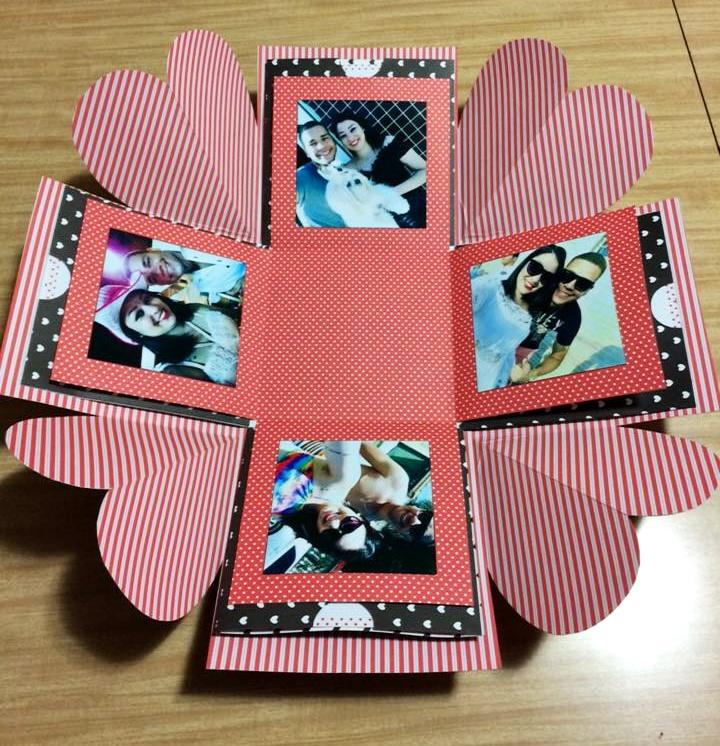 Caixa Explosiva Personalizada Com 16 Fotos Namorados Elo7