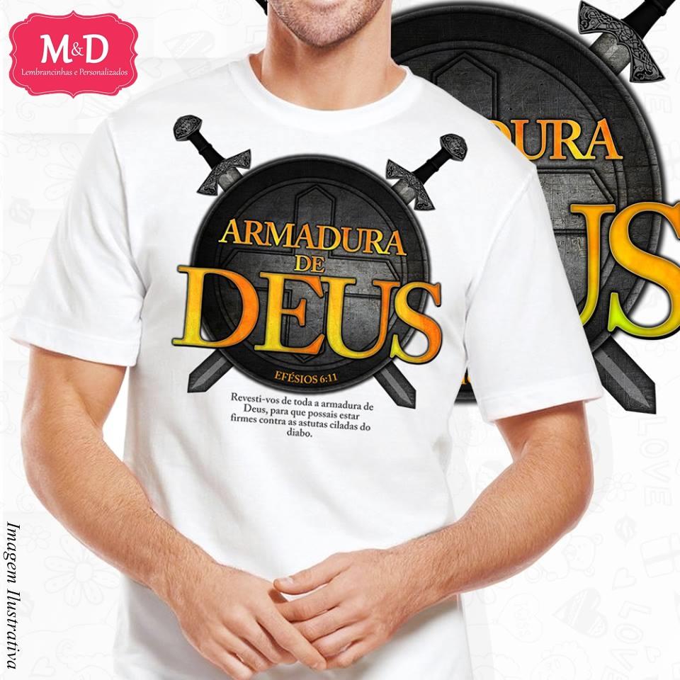 13dfb675efd Camiseta Gospel Armadura de Deus