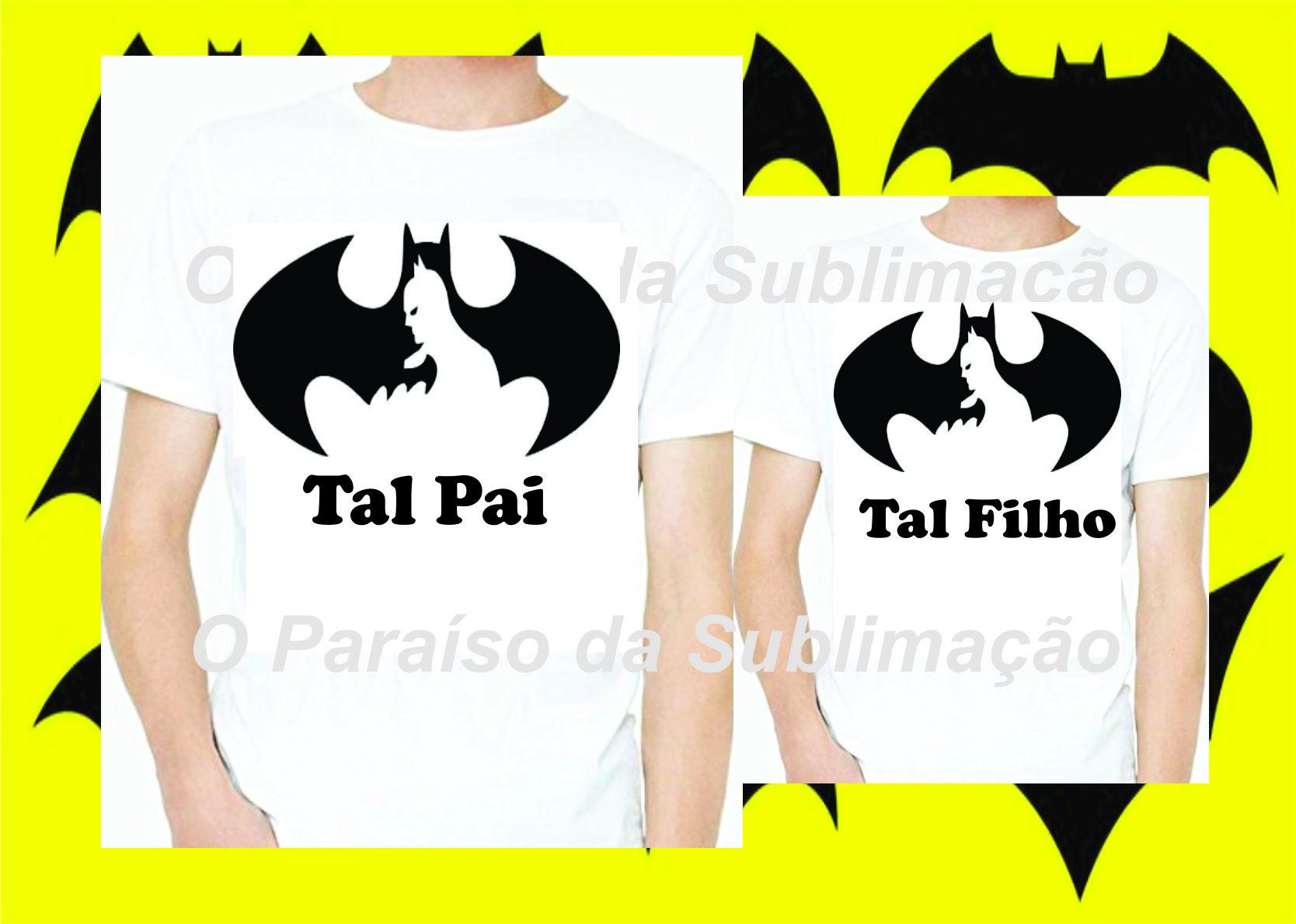 c17193de456c00 Kit 2 Unidades Tal Pai Tal Filho Batman