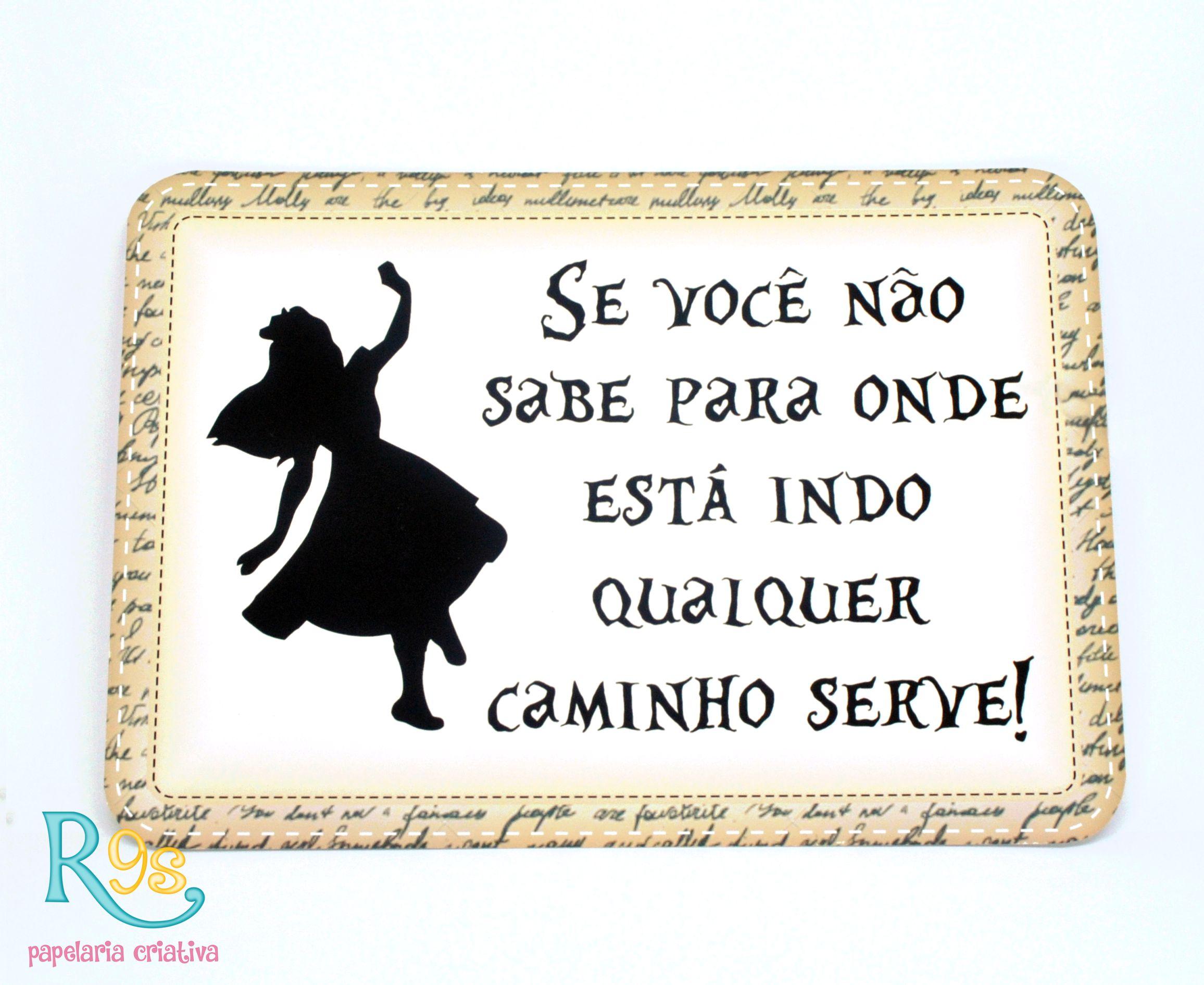 Kit Placas Caminho Alice No Pais Das Maravilhas Elo7