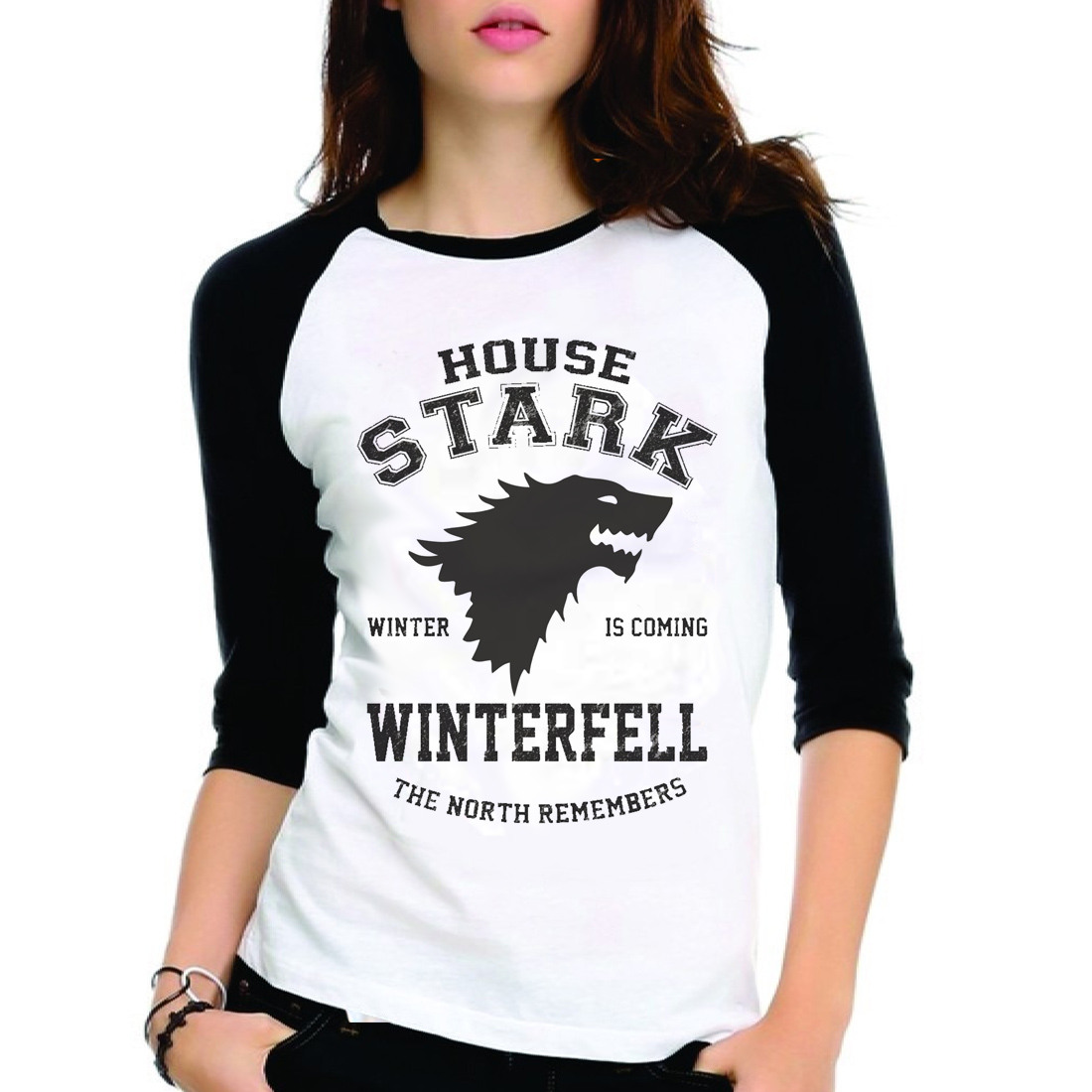 a80f89a2094fb Camiseta Game Of Thrones House Stark | Elo7