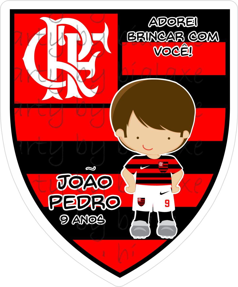 Adesivo Sacolinha Escudo Do Flamengo No Elo7 Mrs Party Papelaria