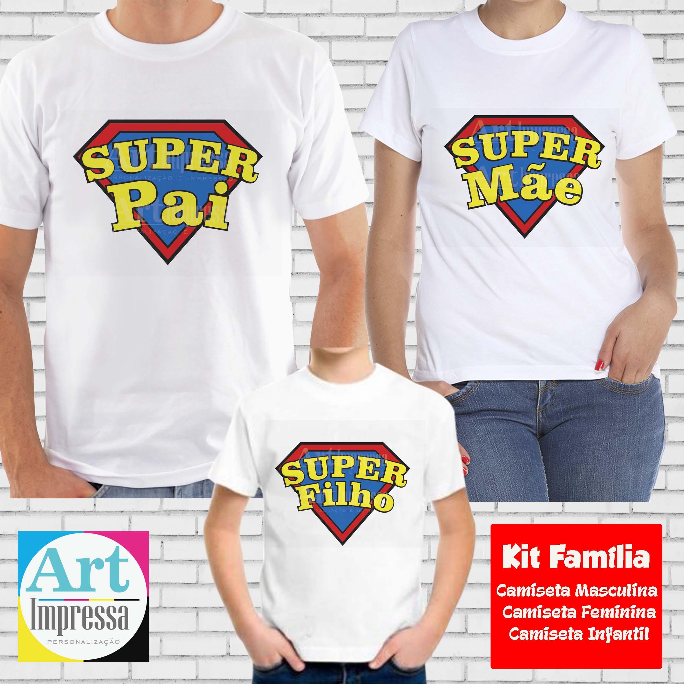 Kit Familia Toda Camisetas Herois  23f9970033c