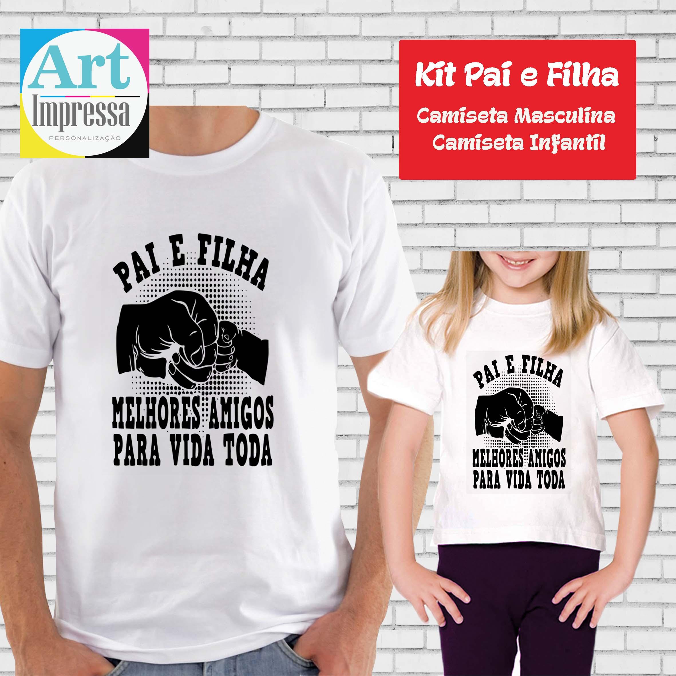 Kit Camiseta Pai E Filha Melhores Amigos No Elo7 Art Impressa
