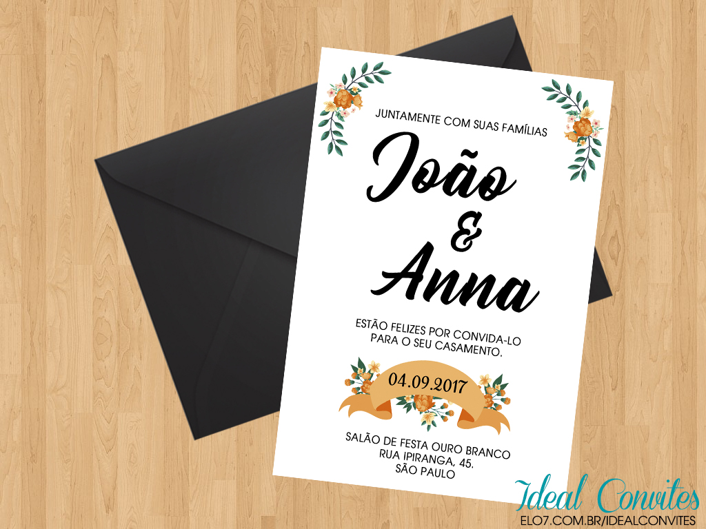 Convite Casamento Simples No Elo7 Ideal Convites 9c0c0b