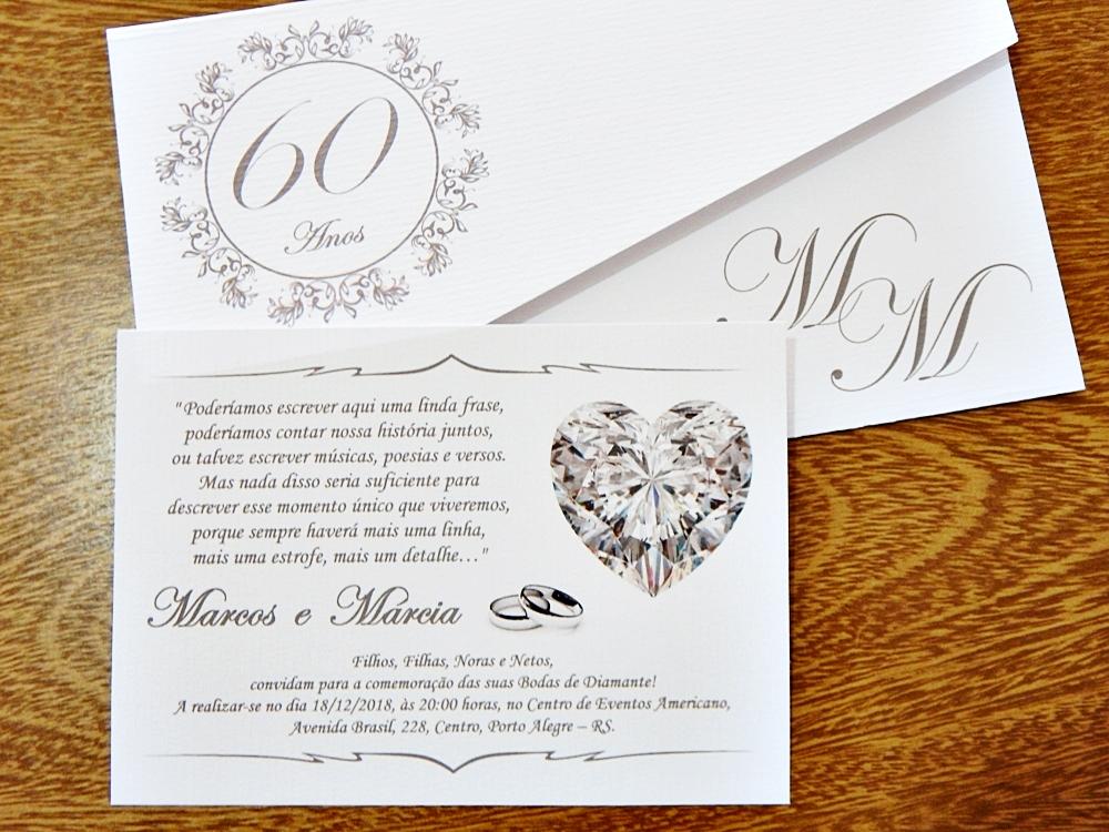 Convite Bodas De Diamante Ibiza Preto No Elo7 Papelac Convites