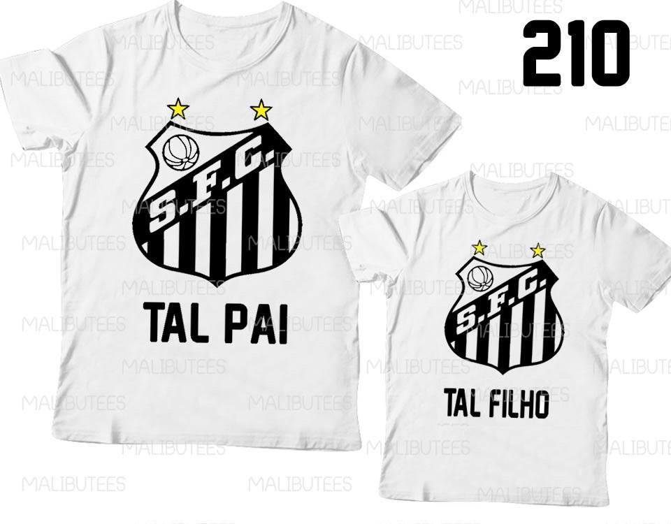 77dec7b8a9 Santos Kit Camisetas Tal Pai Tal Filho