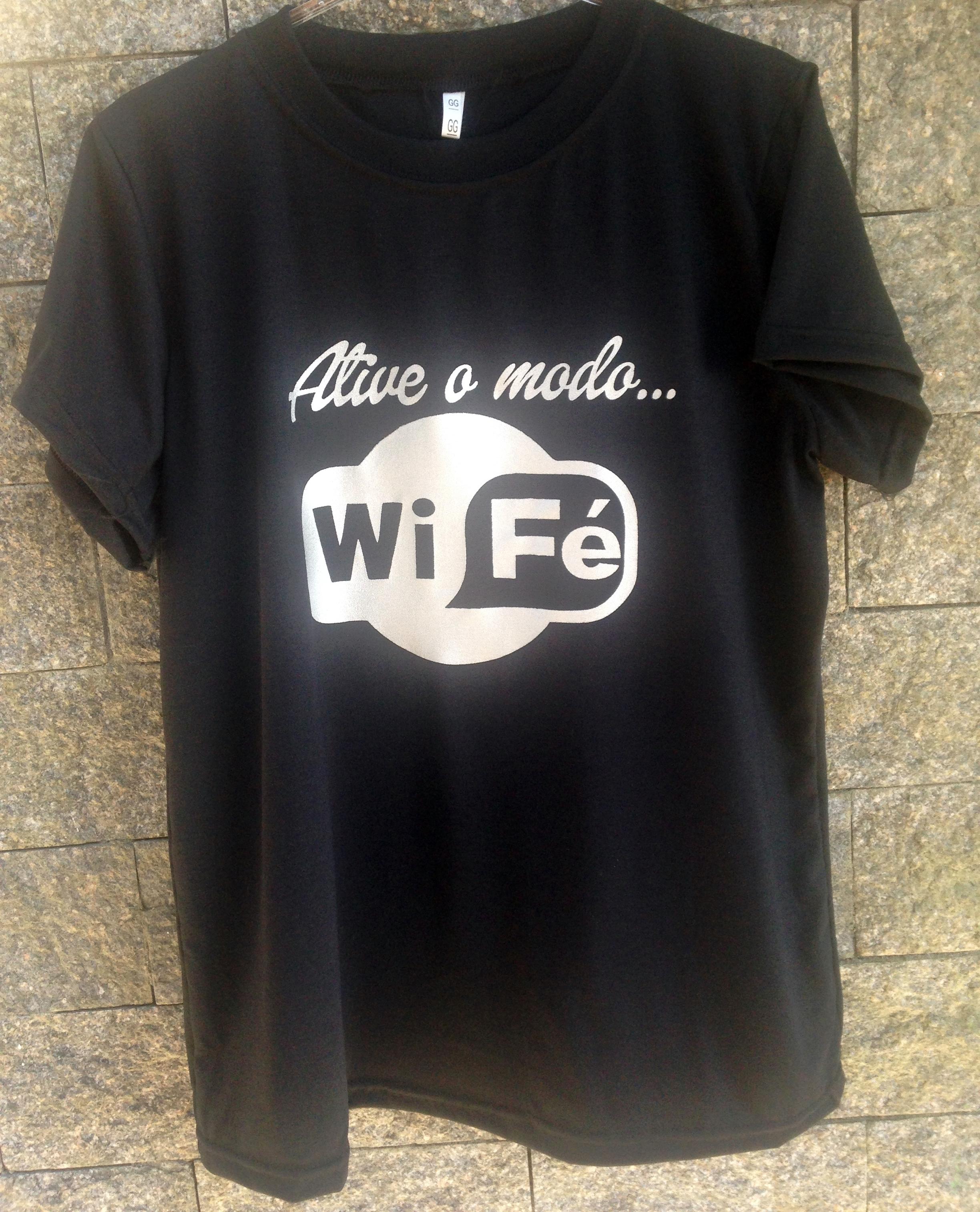 Camiseta Feminina Gospel Plantar Fe  af26d66e60084