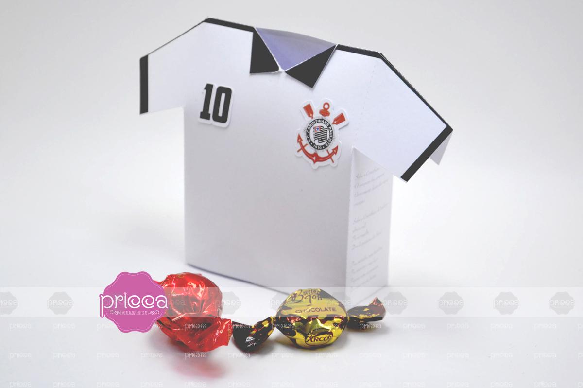 Caixa Pai Camisa Futebol Timao Molde  c7e83a2925c32