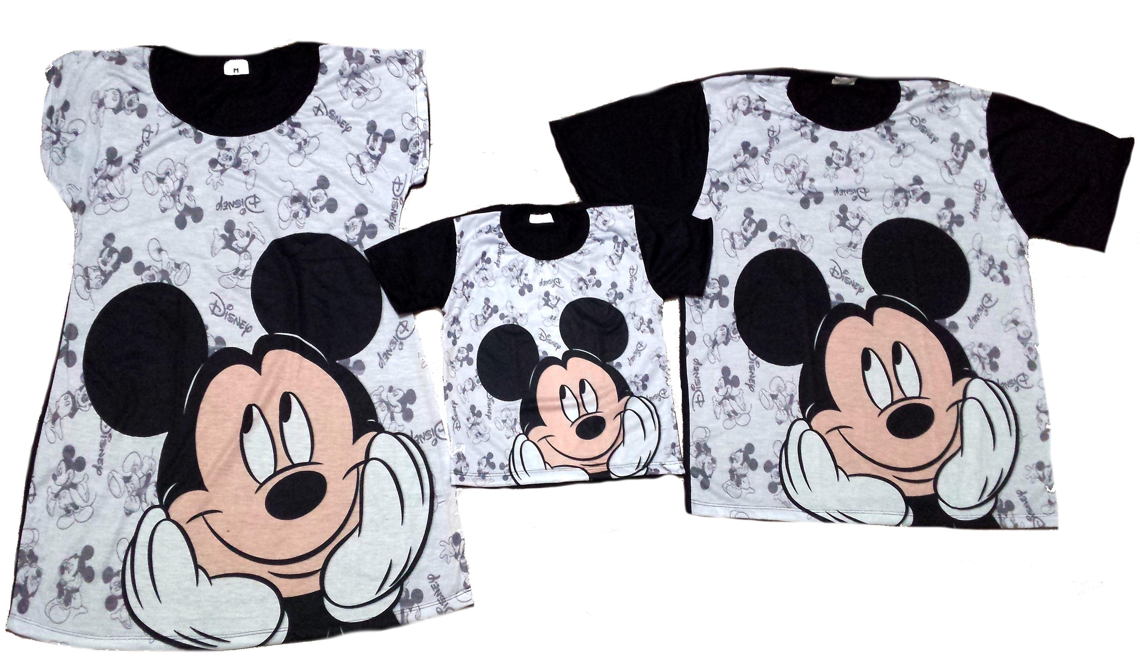55ea5fea491863 Mickey Camisa Personalizada Pai Mae Filho | Elo7