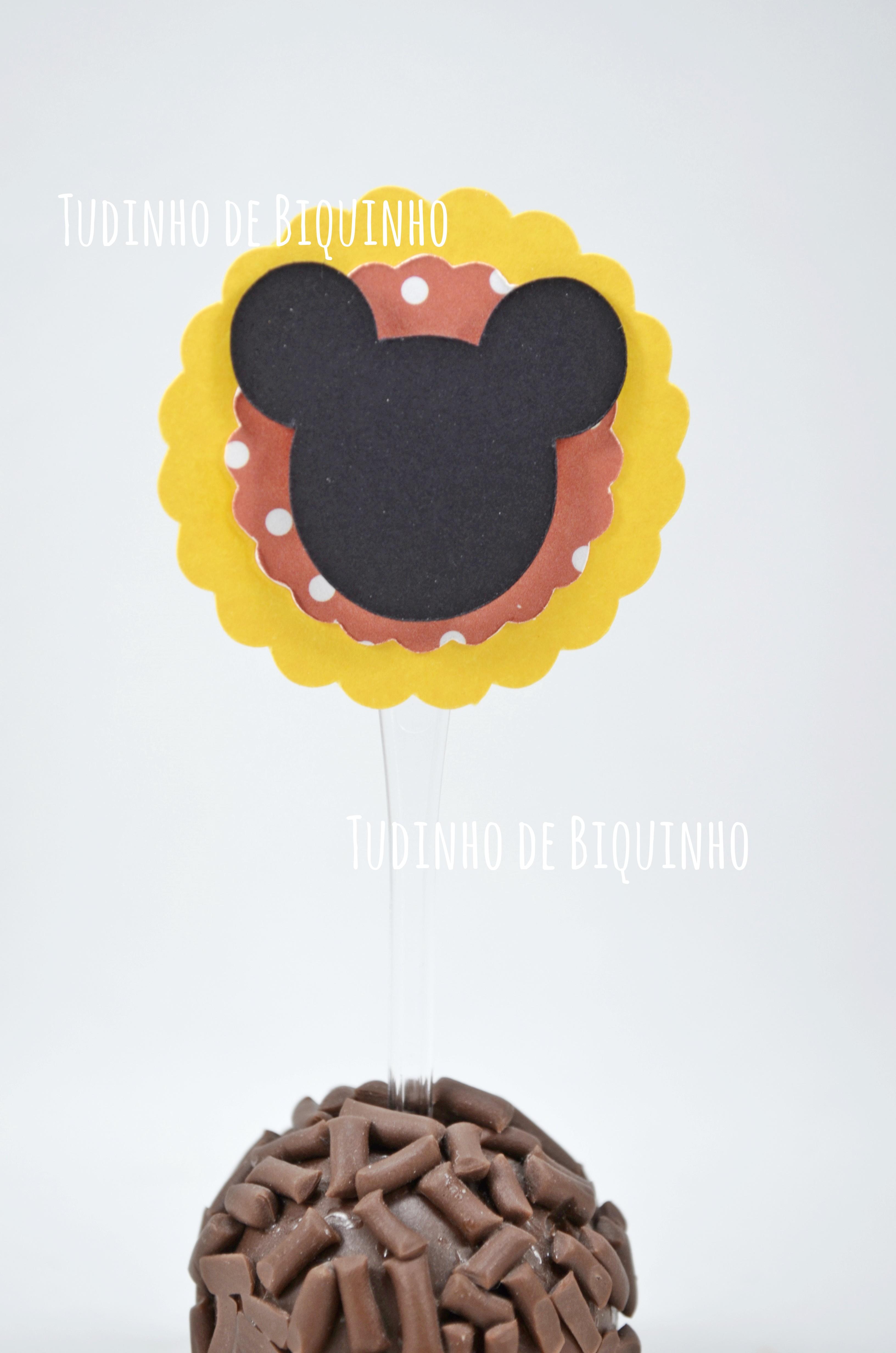 Toppers Mickey (com 10und) no Elo7  55277510ad9ef