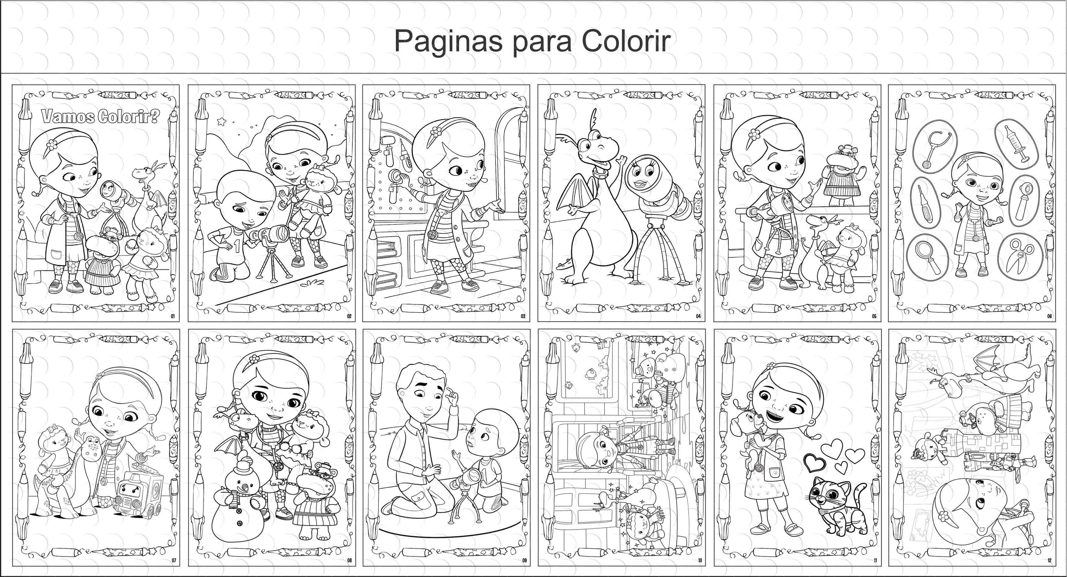 Livro De Colorir Dra Brinquedo 15x21cm No Elo7 G A Personalize