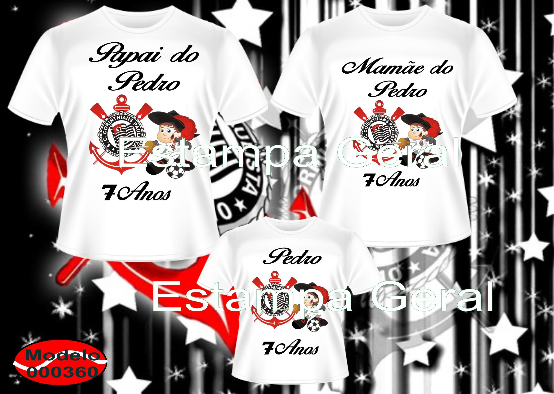 b34a82905 Camiseta Personalizadas Time c 3 no Elo7