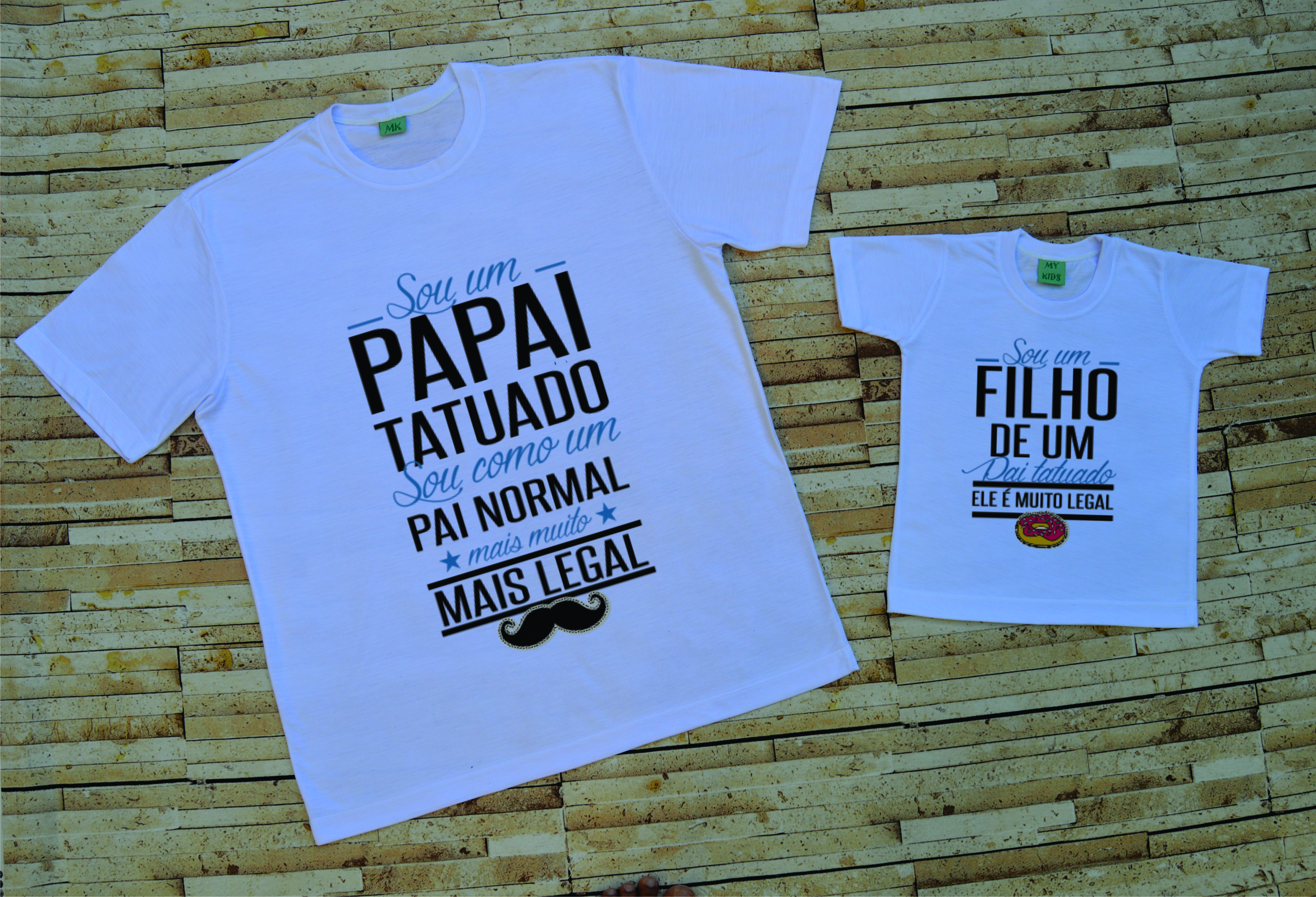 Camiseta Pai E Filho Elo7