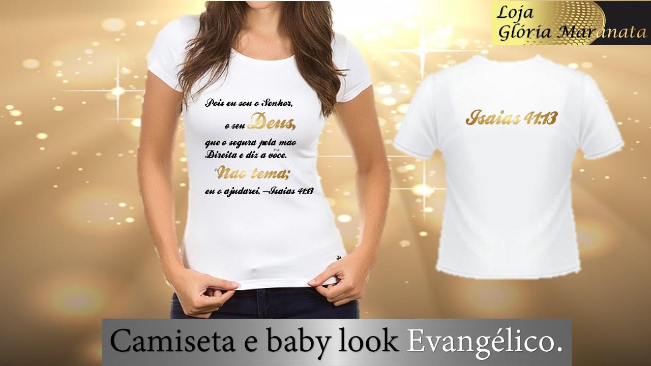 Camisetas com Frases Evangelicas  d1fa4460927