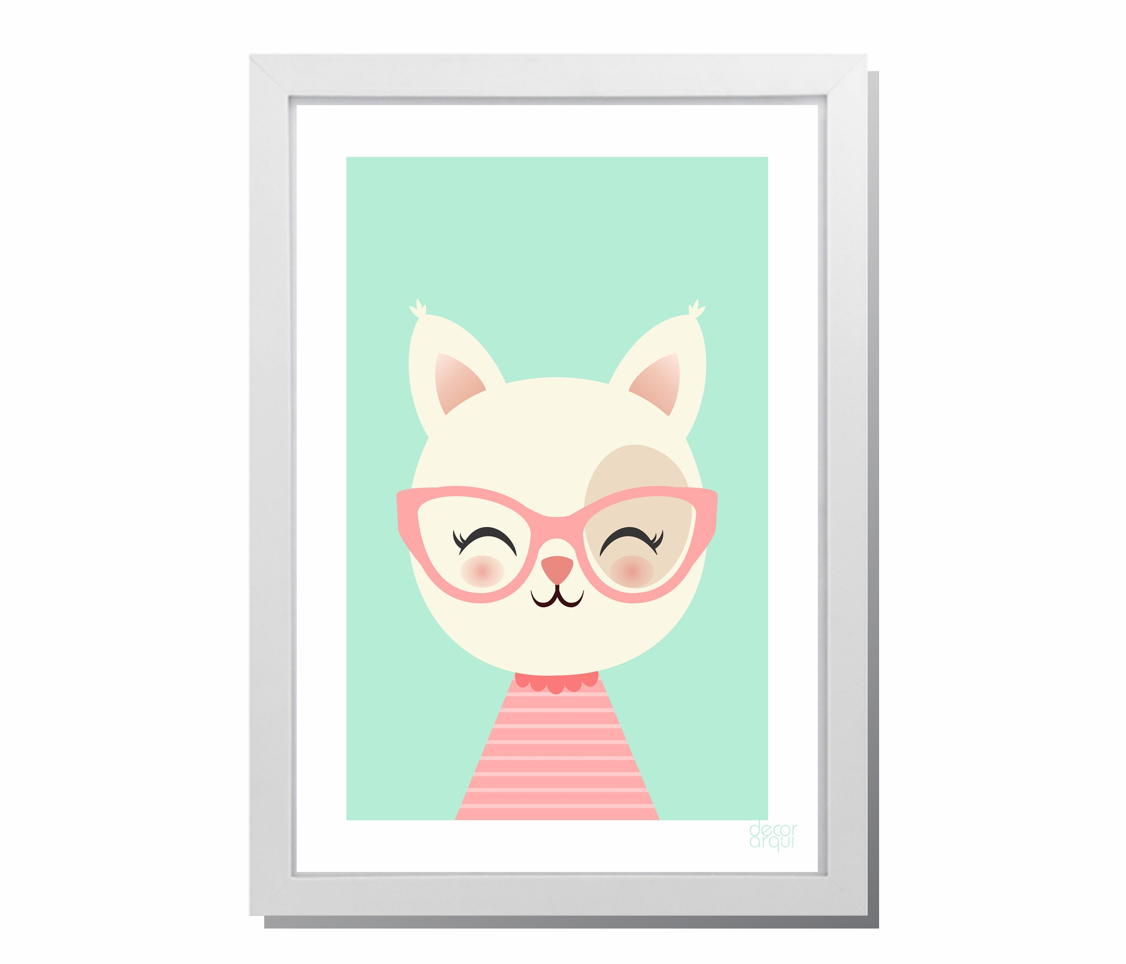 091bbab1d4bc8 Camisa Gatinha de Oculos