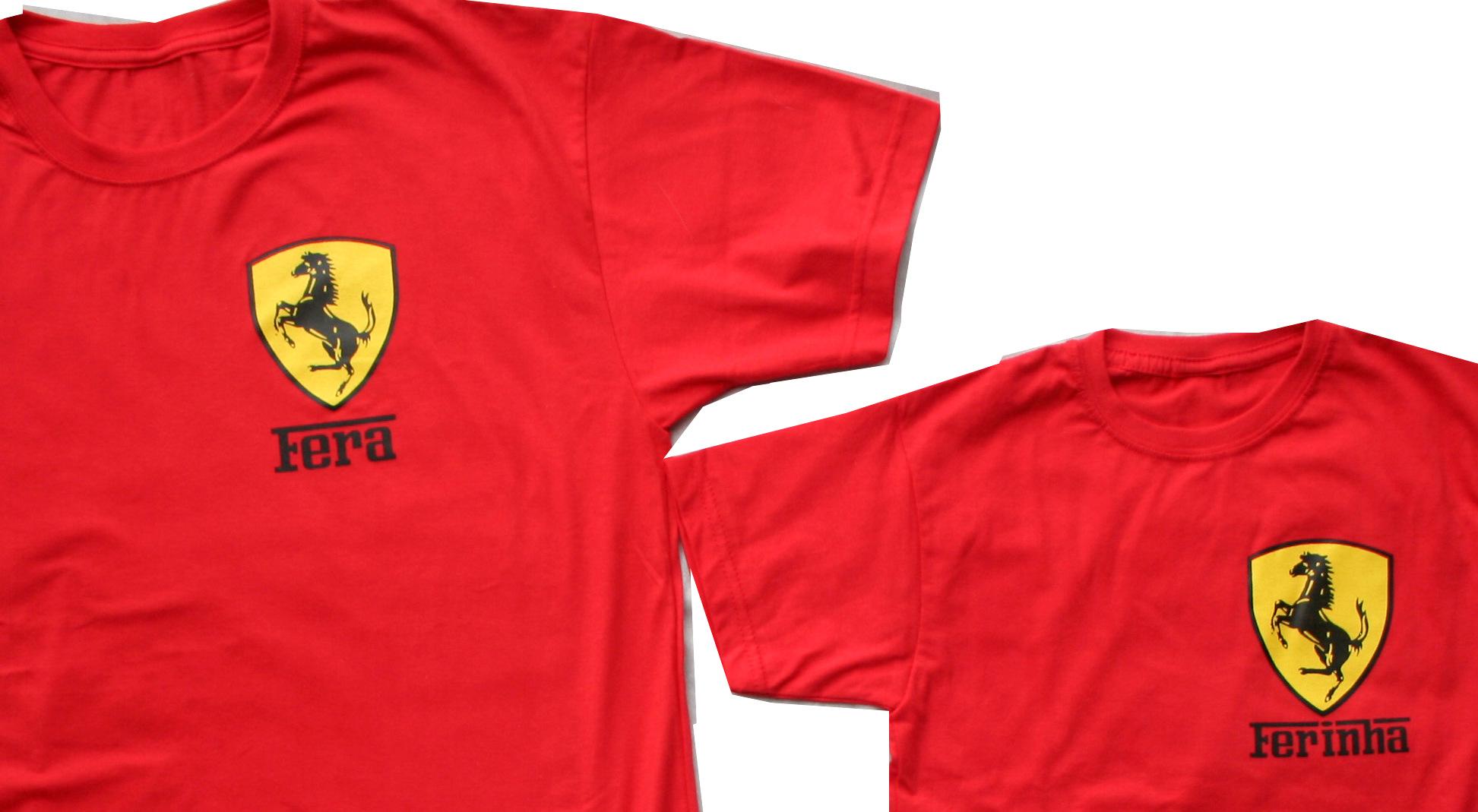 abe18651b2 Kit Camisetas Ferrari no Elo7   Contém ideia (72DDFB)