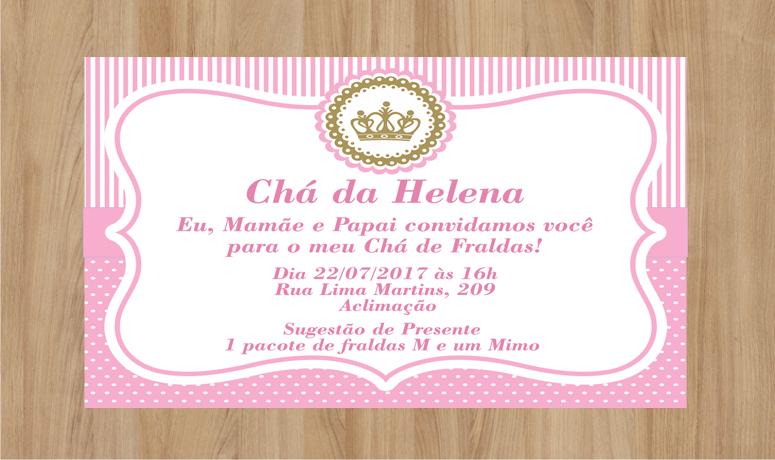 Convite Cha De Mulheres Coroa Rosa Elo7