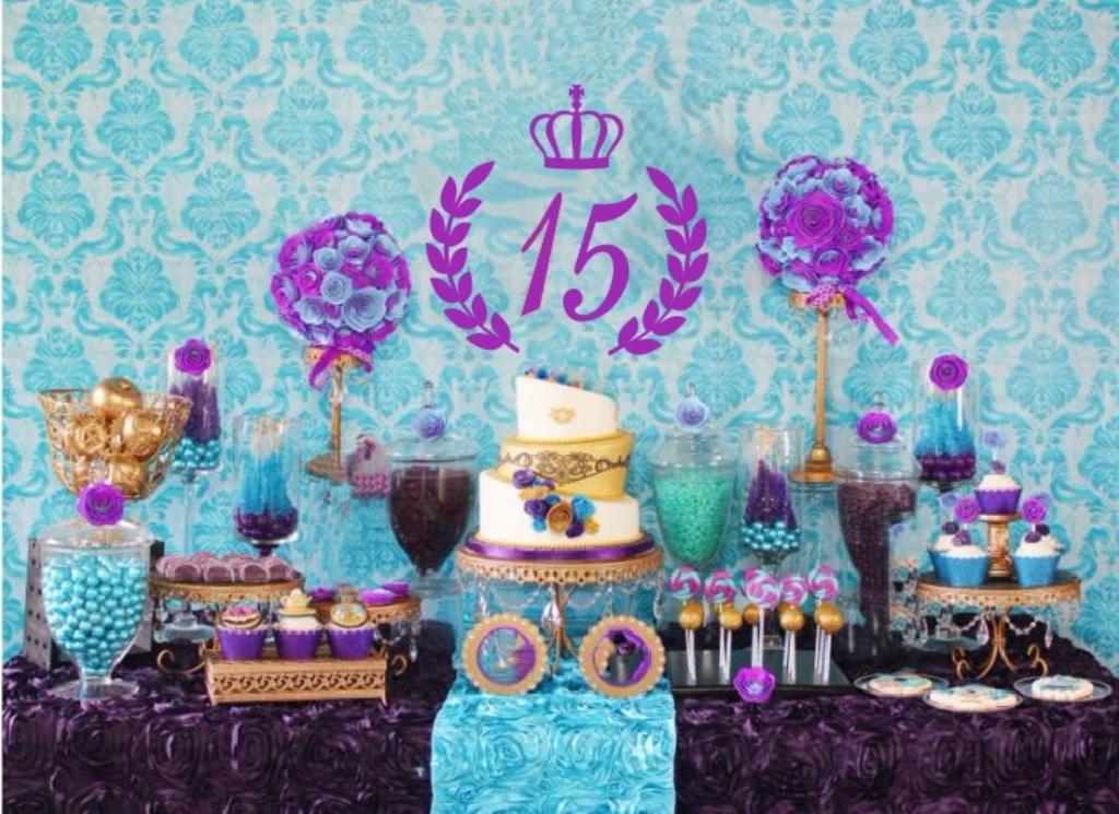 aniversário de 15 anos azul