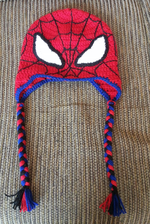 Gorro e Cachecol de Croche Homem Aranha  dede8697a7d