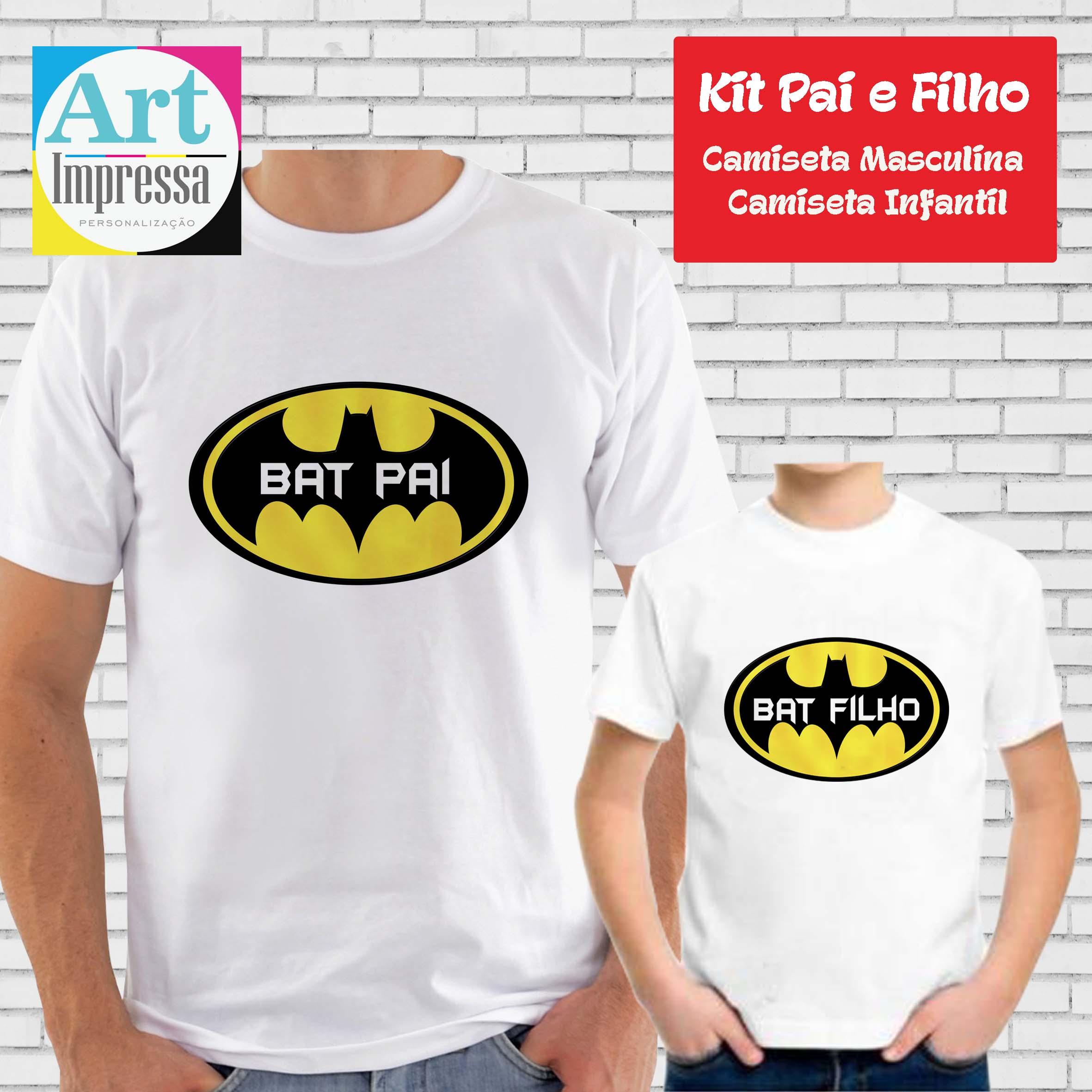 Kit Camiseta Bat Pai e Bat Filho  84c5fb43a37