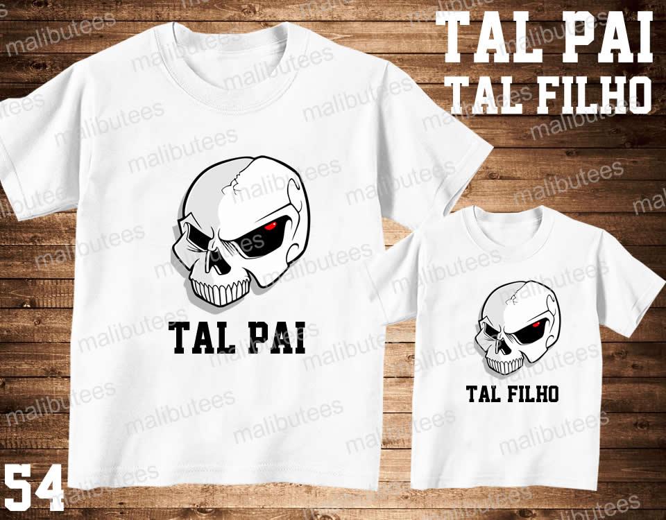 Camiseta Caveira Pai E Filho Kit Com 2