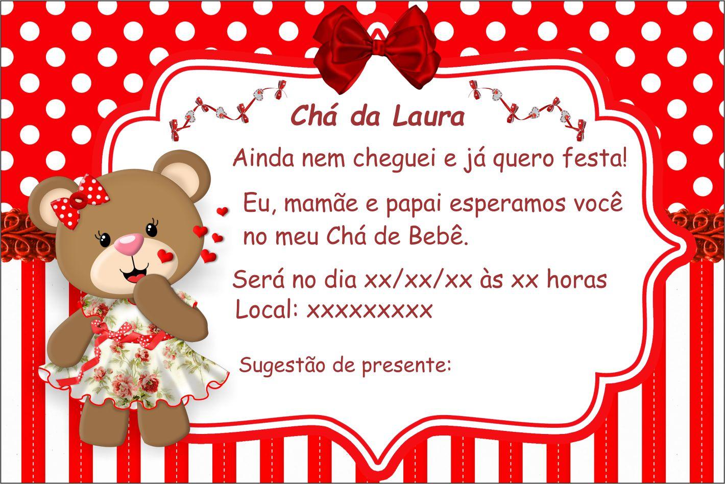 Convite Chá De Bebê Ursinha No Elo7 Arte Criativa Design 9e7a40