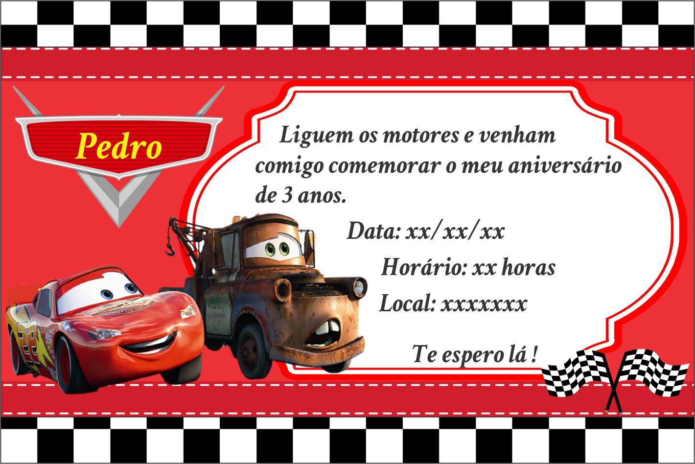 Convite Aniversário Carros No Elo7 Arte Criativa Design 9e9369