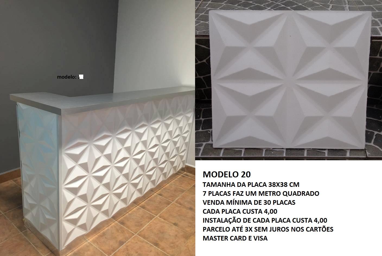 Placas decorativas de gesso 3d revestimento de parede - Placas decorativas paredes interiores ...